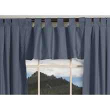 "Thermalogic Weathermate Valance - 40x15"", Tab-Top, Insulated in Blue - Overstock"