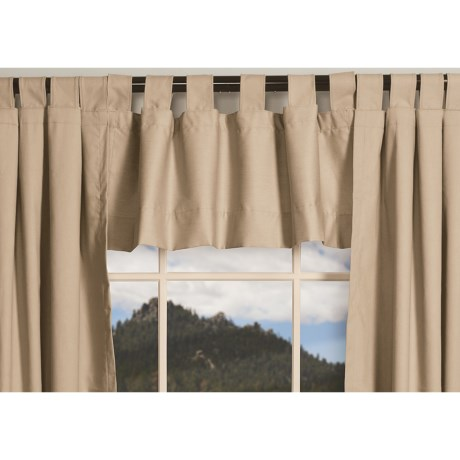 "Thermalogic Weathermate Valance - 40x15"", Tab-Top, Insulated in Natural"