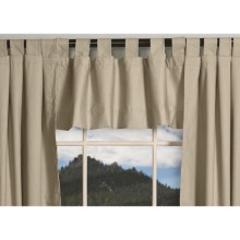 "Thermalogic Weathermate Valance - 40x15"", Tab-Top, Insulated in Natural - Overstock"