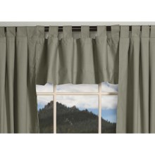 "Thermalogic Weathermate Valance - 40x15"", Tab-Top, Insulated in Sage - Overstock"