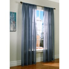 """Thermalogic Weathervane Semi-Sheer Curtains - 100x95"""", Rod-Pocket, Insulated in Blue - Closeouts"""
