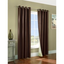 "Thermologic Miller Reversible Curtains - 108x96"", Grommet Top, Insulated in Chocolate / Natural - Closeouts"