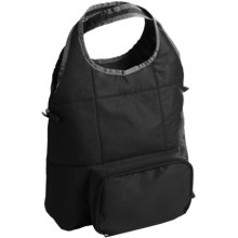 THERMOS® Foldable Tote Bag - Insulated in Black - Closeouts