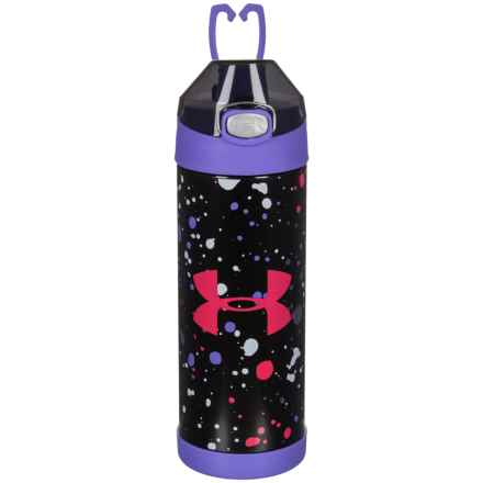THERMOS® Stainless Steel Vacuum-Insulated Bottle - 16 oz. in Purple Print - Closeouts