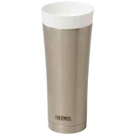 THERMOS® Vacuum-Insulated Travel Tumbler Mug - Stainless Steel, 16 fl.oz. in Stainless Steel - Closeouts