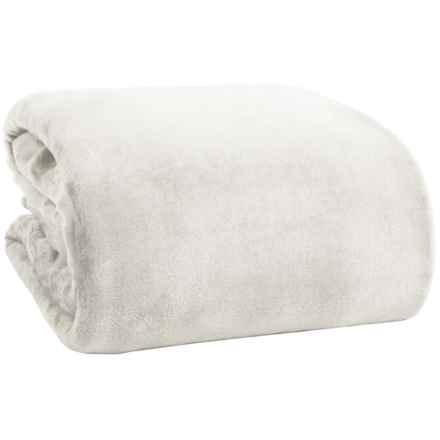 Thesis Solid Velvet Blanket - King in Gray - Overstock