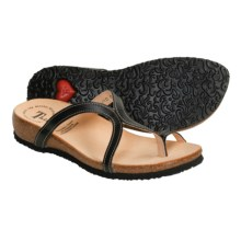 Think! Julia Sandals - Leather (For Women) in Black Capra - Closeouts