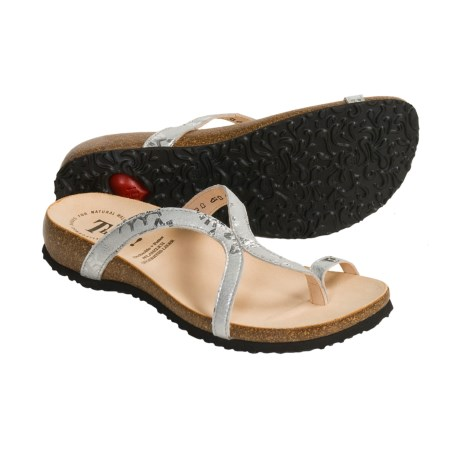 Think! Julia Sandals - Leather (For Women) in Silver Effect