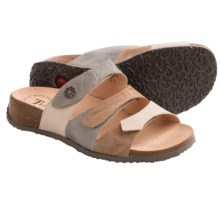 Think! Mizzi 3-Strap Sandals - Leather (For Women) in Shell Combo - Closeouts