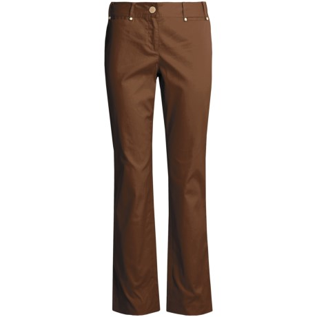 Think Tank Ottoman Pants - Stretch Cotton (For Women) in Chocolate