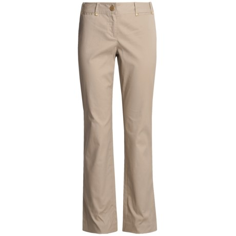 Think Tank Ottoman Pants - Stretch Cotton (For Women) in Tan
