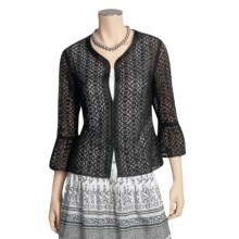 Think Tank Rich Lace Jacket - 3/4 Sleeve (For Women) in Black - Closeouts