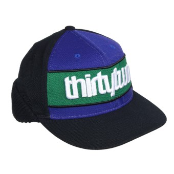Thirty Two Grimey Flex Fit 210 Hat (For Men and Women) in Kelly Green