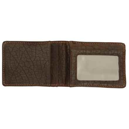 Thomas Bates American Bison Front Pocket Wallet in Brown - Closeouts