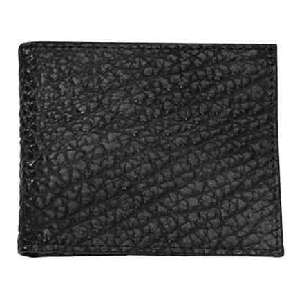 Thomas Bates American Bison Thin Fold Wallet in Black - Closeouts