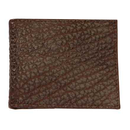 Thomas Bates American Bison Thin Fold Wallet in Brown - Closeouts
