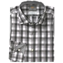 Thomas Dean Big Check Sport Shirt - Long Sleeve (For Men) in Grey - Closeouts