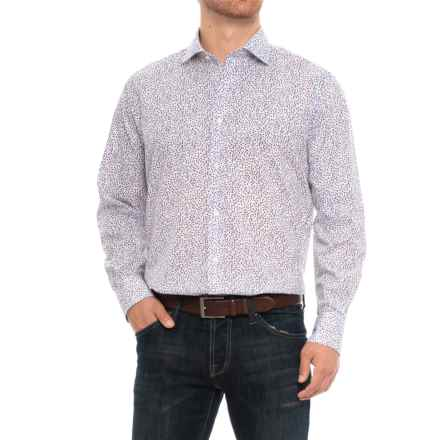 Thomas Dean Button-Down Sport Shirt - Long Sleeve (For Men) in Blue Floral/White - Closeouts