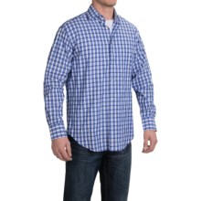 Thomas Dean Check Sport Shirt - Pima Cotton, Long Sleeve (For Men) in Blue/Royal - Closeouts