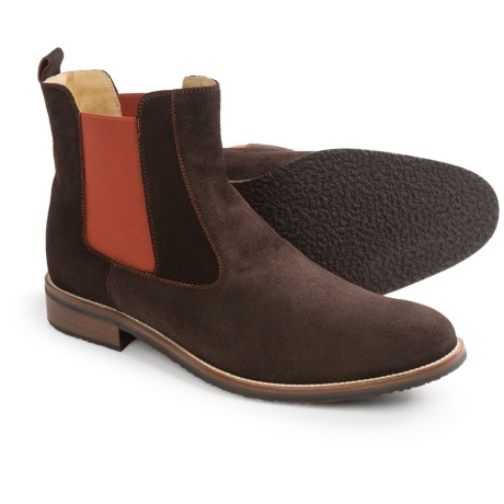 Thomas Dean Chelsea Boots - Suede (For Men) in Brown