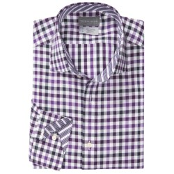 Thomas Dean Cotton Gingham Sport Shirt - Long Sleeve (For Men) in Pink
