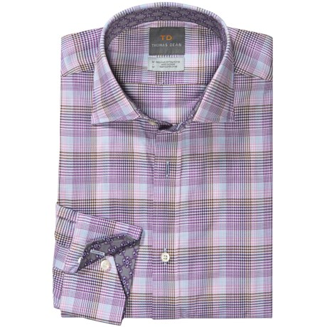 Thomas Dean Cotton Multi-Plaid Shirt - Long Sleeve (For Men) in Blue