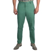 Thomas Dean Cotton Pants - Classic Fit, Flat Front (For Men) in Green - Closeouts