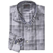 Thomas Dean Cotton Plaid Sport Shirt - Long Sleeve (For Men) in Grey Multi - Closeouts