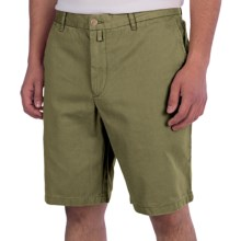 Thomas Dean Cotton Shorts - Flat Front (For Men) in Olive - Closeouts