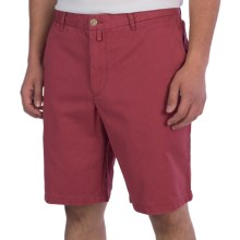 Thomas Dean Cotton Shorts - Flat Front (For Men) in Red - Closeouts