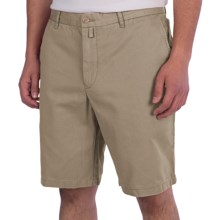 Thomas Dean Cotton Shorts - Flat Front (For Men) in Tan - Closeouts