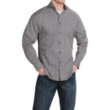 Thomas Dean Denim Print Button Down Sport Shirt - Long Sleeve (For Men) in Black - Closeouts