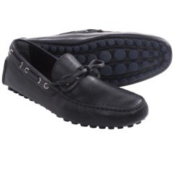 Thomas Dean Driving Shoes - Pebbled Leather, Slip-Ons (For Men) in Navy