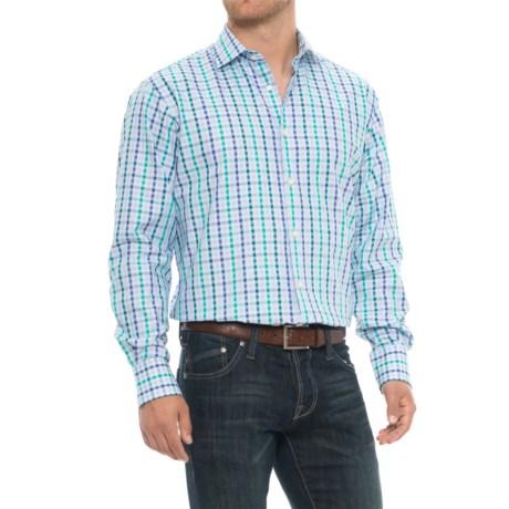 Thomas Dean Gingham Sport Shirt - Long Sleeve (For Men) in Green