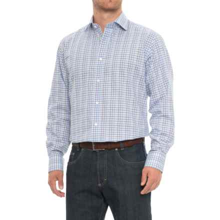 Thomas Dean Gingham Sport Shirt - Long Sleeve (For Men) in Purple - Closeouts