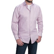 Thomas Dean Jacquard Check Sport Shirt - Long Sleeve (For Men) in Purple/Lavendar - Closeouts