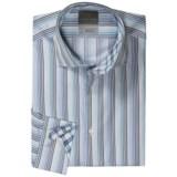 Thomas Dean Multi-Stripe Sport Shirt - Long Sleeve (For Men)