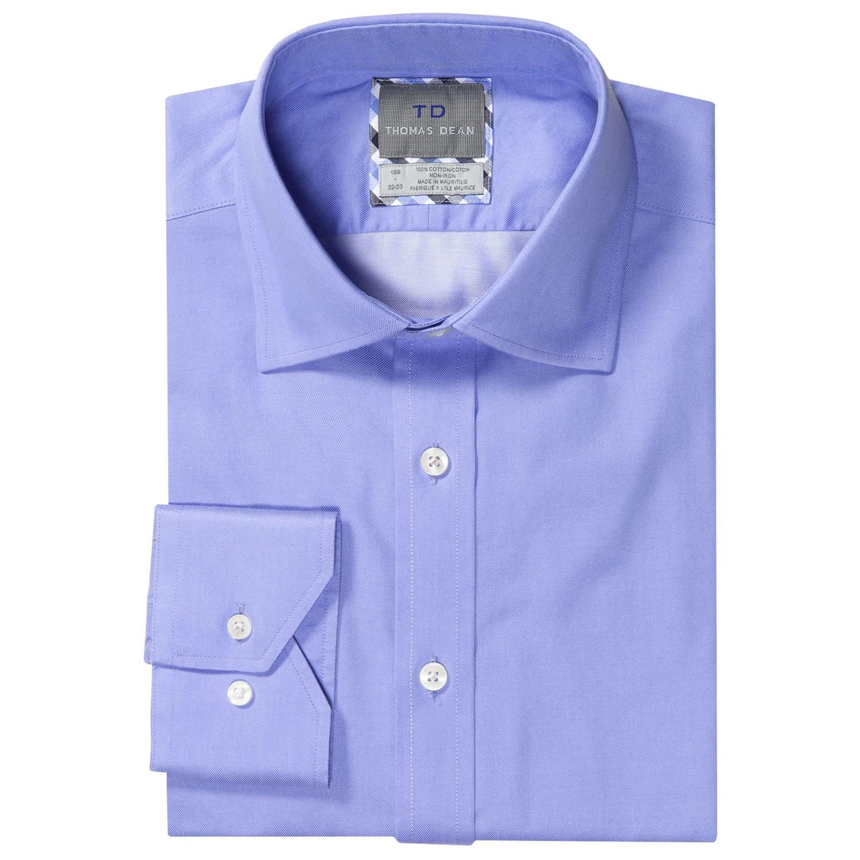 Thomas dean no iron twill dress shirt for men save 54 for Men s no iron dress shirts