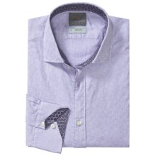 Thomas Dean Pima Cotton Sport Shirt - Long Sleeve (For Men and Tall Men) in Lilac - Closeouts
