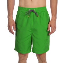 Thomas Dean Relaxed Fit Swim Trunks - Mesh Inner Brief (For Men) in Lime - Closeouts