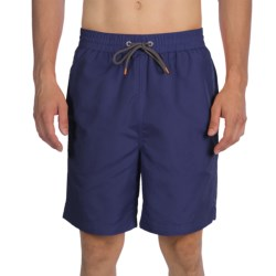 Thomas Dean Relaxed Fit Swim Trunks - Mesh Inner Brief (For Men) in Navy