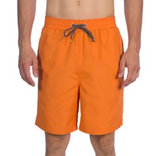 Thomas Dean Relaxed Fit Swim Trunks - Mesh Inner Brief (For Men) in Orange - Closeouts