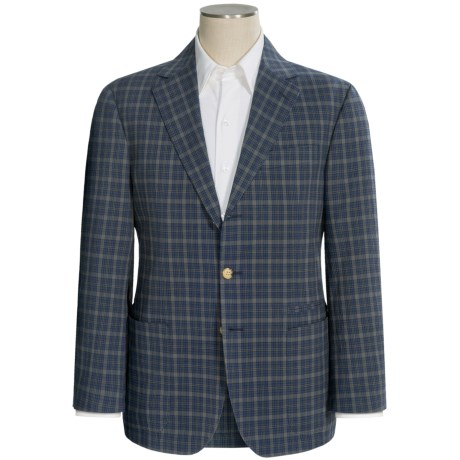 Thomas Dean Seersucker Sport Coat - Stretch Cotton (For Men) in Navy