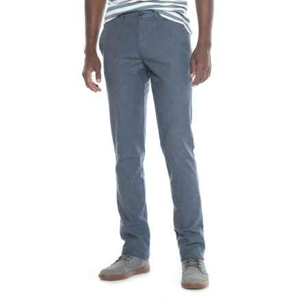 Thomas Dean Stretch Cotton Unhemmed Pants (For Men) in Blue - Closeouts