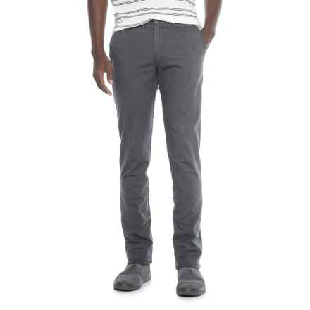 Thomas Dean Stretch Cotton Unhemmed Pants (For Men) in Charcoal - Closeouts