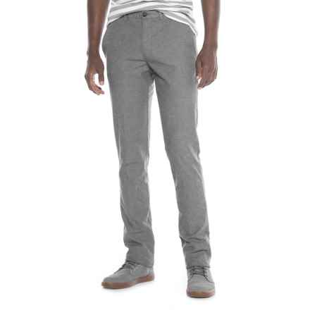 Thomas Dean Stretch Cotton Unhemmed Pants (For Men) in Light Grey - Closeouts