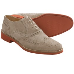 Thomas Dean Wingtip Oxford Shoes - Suede (For Men) in Stone