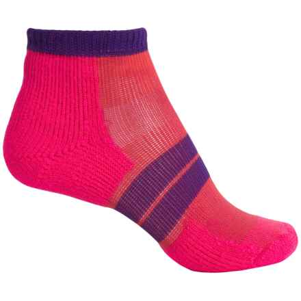 Thorlo 84 Needle Runner Micro Socks - Ankle (For Women) in Diva Pink/Electric Purple - 2nds
