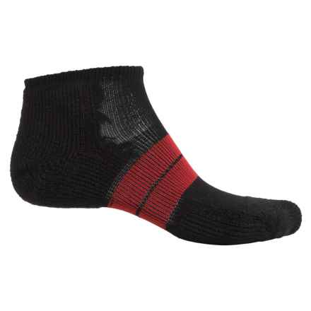 Thorlo 84 Needle Runner Socks - Ankle (For Men) in Black/Red - 2nds