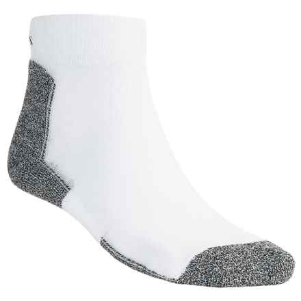 Thorlo CoolMax® Running Socks - Mini Crew, Lightweight (For Men and Women) in White - 2nds